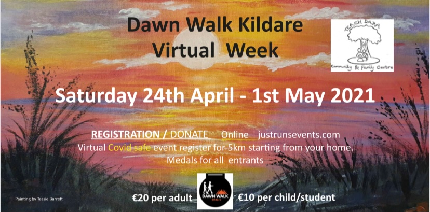 Dawn Walk Kildare Virtual Week  - Dawn Walk Kildare Virtual Week  - Under 18 / Student Entry