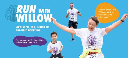 Run with Willow - half marathon - Half marathon entry fee