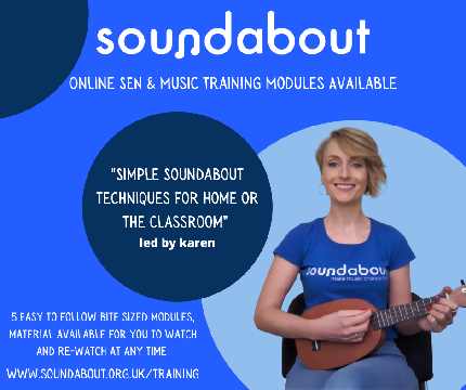 Introduction to Basic Soundabout Techniques with Karen - Simple Soundabout Module 3 - Multi-sensory Music Making